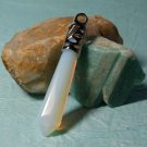 Chakra Reiki Pendant Moonstone Quartz Crystal Point Gemstone Sterling Silver
