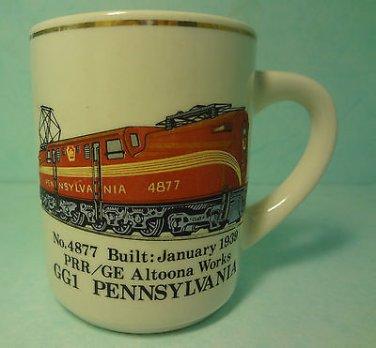 Vintage Country Trains Pennsylvania No. 4877 Coffee Mug Cup 12 oz