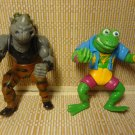1988 1989 Teenage Mutant Ninja Turtles Action Figures Playmate Toys Lot 2