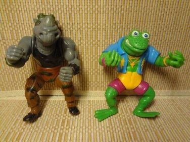1988 1989 Teenage Mutant Ninja Turtles Action Figures Playmate Toys Lot 2