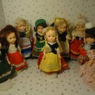 Vintage Doll Collection International Around the World Travel Hard Plastic