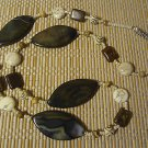 Gemstone Statement Necklace Polished Natural Jasper Beads Jewelry 28""