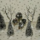 Sisal Bottle Brush Trees Christmas Village Accessories Mix Sizes Lot 7