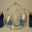 Nativity Scene Leaded Stain Glass Set Christmas Figures Angels Dicksons New