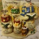 Dicksons Christmas Music Box Snowman Family Choir Musical Joy To The World New