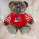 "USA PATRIOTIC TEDDY BEAR FLAG SWEATER DILLARDS PLUSH STUFFED ANIMAL 18"""