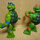 Rare 1992 Teenage Mutant Ninja Turtles Action Figures Pop Out Eyes Spin Head HTF