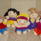 "Soft Stuffed Plush Doll Set  8"" Cute Adorable Velvety Lot 5"