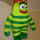 "SPIN MASTER YO GABBA GABBA BROBEE Green 8"" Soft FURRY Plush Stuffed Animal Toy"