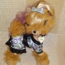 Yorkie Plush Dog Tini Puppini TOFFEE Diva Stylish Chic Stuffed Toy Animal 11""