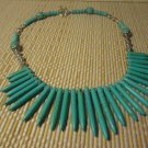South Western Necklace Gemstone Beaded Jewelry Natural Turquoise Howlite 18""