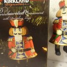 Nutcracker Bell Kirkland Porcelain Christmas Ornament New In Box