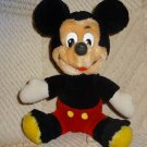"8"" Vintage VTG WALT Disney DISNEYS SITTING Mickey Mouse Plush Stuffed ANIMAL TOY"
