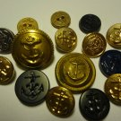 Vintage To Modern Buttons Anchors LOT 15 PCS