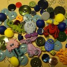 Vintage To Modern Buttons Craft Aliens Monsters Mix Lot 55 Pcs