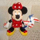 Disney Minnie Mouse Light Up Stars Stripes Pinwheel Plush Stuffed Toy Animal 10""