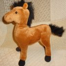 "ASI Brown Horse Pony Stallion Plush Stuffed Toy Animal 11"" Standing"