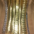 Gold Womens Belt Stretch Metal Coin  Link Western S M L 1 Size Vintage
