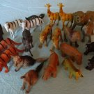 Small Toy Animals Lion Tiger Elephant Plastic PVC Action Figures Mix Lot 22
