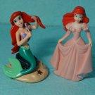 Disney Little Mermaid Ariel PVC Toy Figures Cake Toppers Lot 2