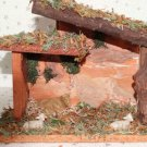 Vintage Nativity Christmas Wooden Wood Manger Stable Barn Creche Animals Only