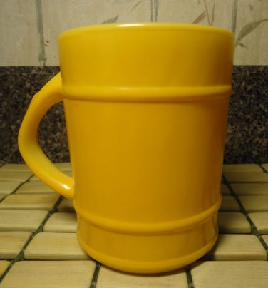 Vintage Fire King Anchor Hocking Sunflower Yellow Coffee Mug Tea Cup Made in USA