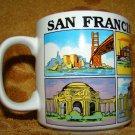 San Francisco CALIFORNIA SOUVENIER NEAT WHITE CABLE CAR GOLDEN GATE Coffee Mug