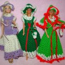 Vintage Crochet Barbie Dress lot Handmade