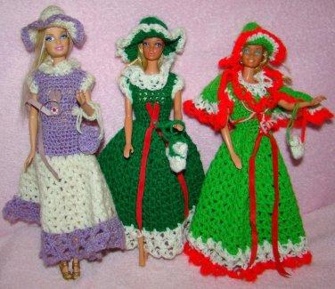 Vintage Crochet Barbie Dress lot Handmade