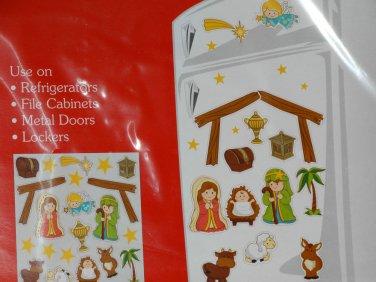 Nativity Scene Decoration Magnetic Figures Fridge Locker File Cabinet