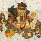Small Christmas Nativity Set Figures Creche Manger Stable Barn Figures