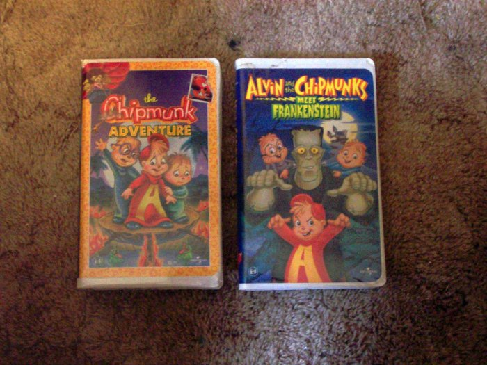 Collection of The Chipmunks VHS Movies