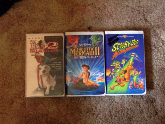 3 Kids VHS Movies