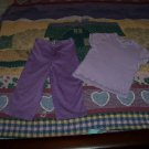 CUTE PURPLE CAPRIS OUTFIT SIZE 6