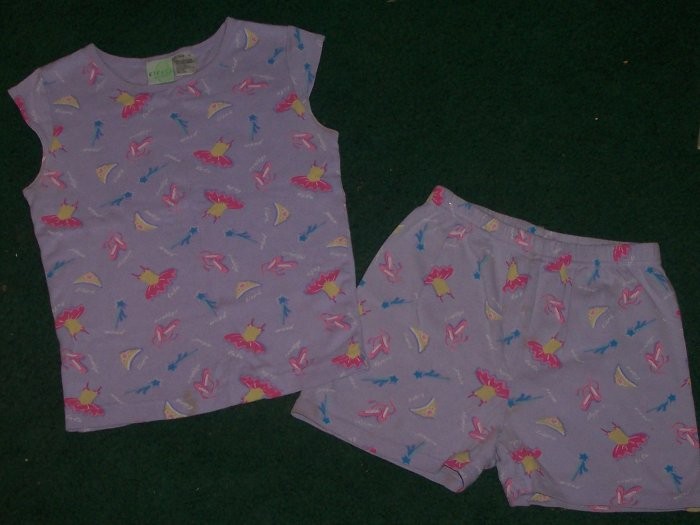 Cute Girls Pajams Shorts Set Size 10