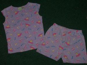 Cute Girls Pajams Shorts Set Size 10