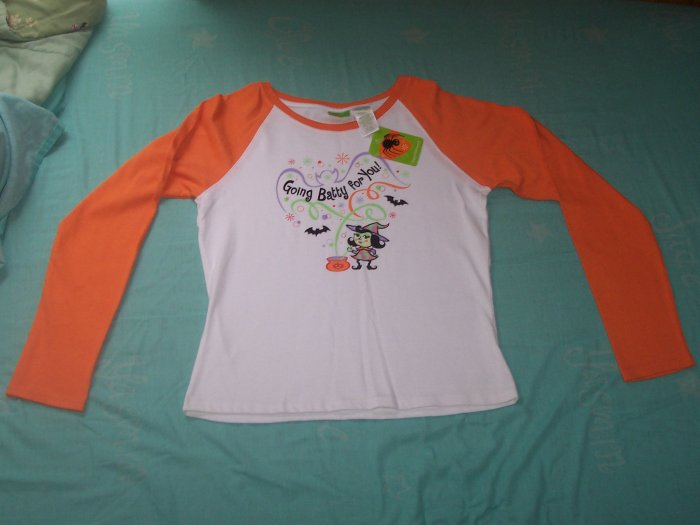 NWT LONG SLEEVE GIRLS HALLOWEEN SHIRT SIZE XL(14/16)