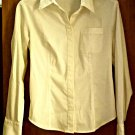 Express Blouse Top Size 5/6 Shirt Womens White Button Down Long Sleeve Stretch NEW
