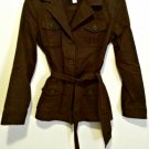 Talbots Jacket Size 4  Blazer Sz 4 Brown Women  Coat Blend Button Tie  Petites NEW