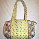 Vera Bradley Bag Zip Purse Duffle Authentic Yellow Handbag Blue Elizabeth Retired Red