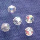 25 GENUINE SWAROVSKI 5000 CRYSTAL AB 4MM CRYSTAL ROUND FACETED BEADS ~ s1