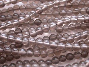 ~ SMOKEY QUARTZ 4mm ROUND  SEMI PRECIOUS  BEADS ~ sp478a