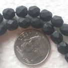 125 BLACK MATTE 6mm FACETED GLASS  BEADS ~Z5