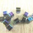 20 GENUINE SWAROVSKI 5601 MONTANA BLUE  AB 4MM CRYSTAL ~c8