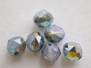 50 GENUINE SWAROVSKI 5025 WHITE OPAL STAR SHINE 6MM CRYSTAL ROUND FACETED ~ s23