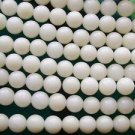 ~ CORAL OFF WHITE 5mm ROUND  SEMI PRECIOUS  BEADS ~ sp572