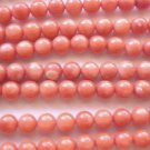 ~ CORAL FLAME 6 mm ROUND  SEMI PRECIOUS  BEADS ~ sp578
