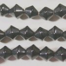 110 BLACK BICONE CZECH GLASS  BEADS 6mm   LOT ~A51
