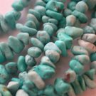 ~ HOWLITE TURQUOISE CHIPS 4mm- 8mm SEMI PRECIOUS STONE BEADS ~ sp321