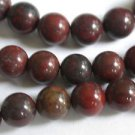 ~ POPPY JASPER 8mm ROUND  SEMI PRECIOUS STONE BEADS ~ sp28b